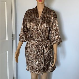 Victoria's Secret animal print silk robe